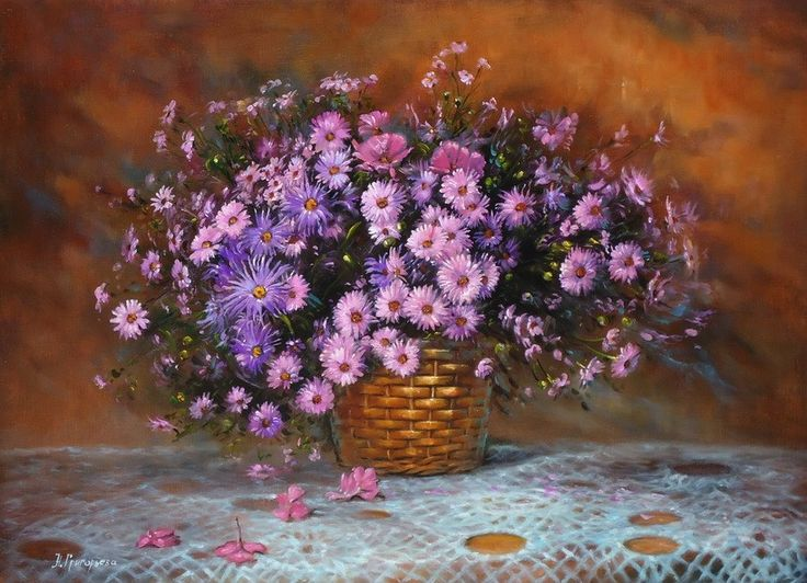 painting - still life, buy a picture of autumn flowers