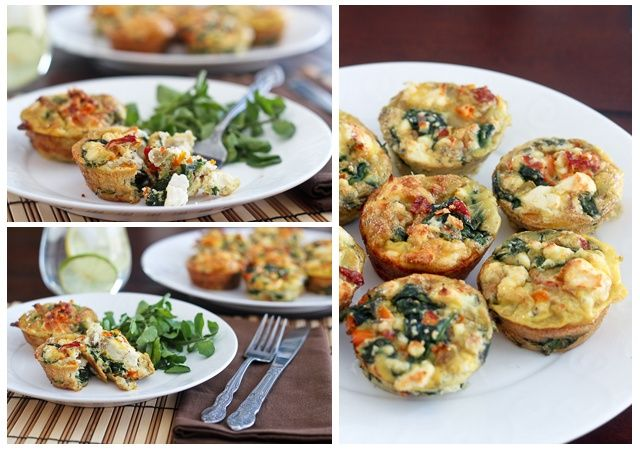 Spinach and Feta Frittata, perfect to make ahead and put in the freezer or fridge for quick meals and snacks. No flour, uses egg whites and veggies. via The Healthy Foodie #prepday #freezerfriendly #healthy