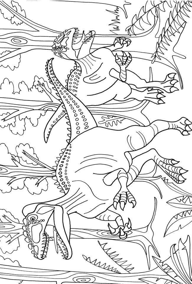 Dino Island Adventure Coloring Book Dover Publications