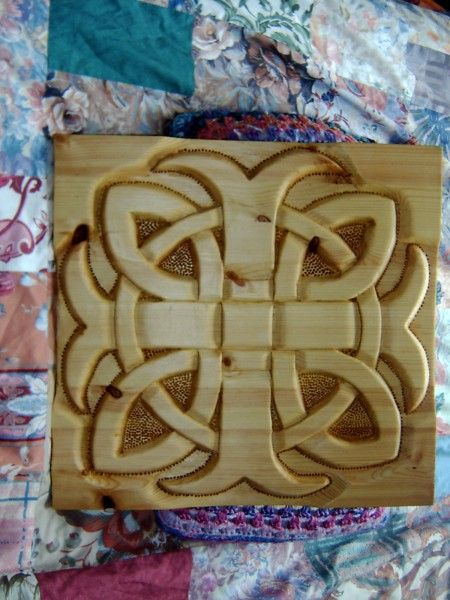 Celtic Wood Plaque - New Scatness Carvings