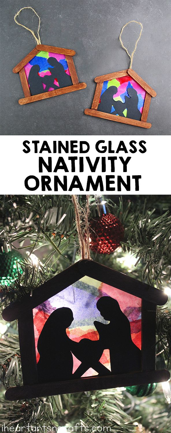 Stained Glass Nativity Ornament Craft For Kids - I Heart Arts n Crafts