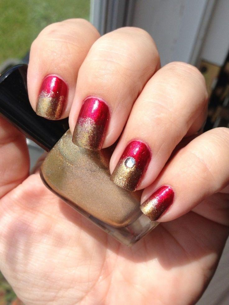 My blog - Iron Man inspired nail art