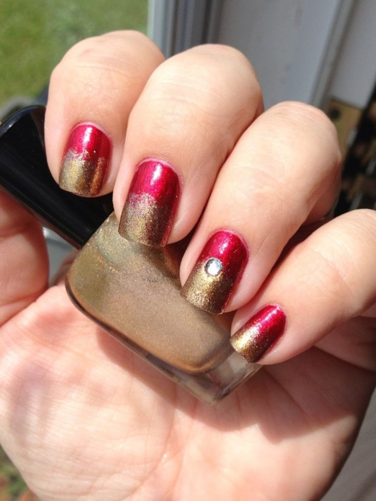 My blog - Iron Man inspired nail art