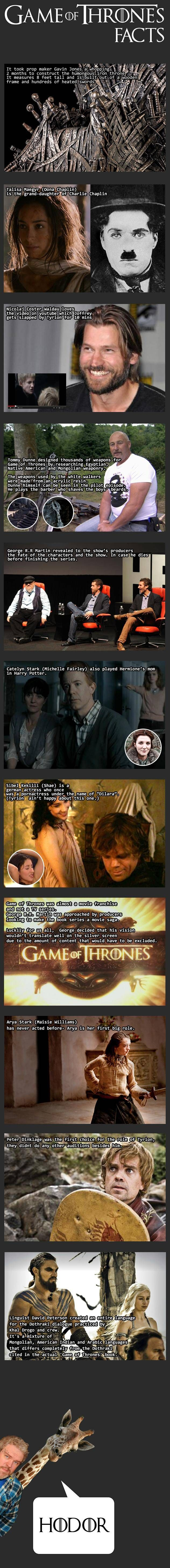 Game of Thrones Facts - the last one is by far the best.