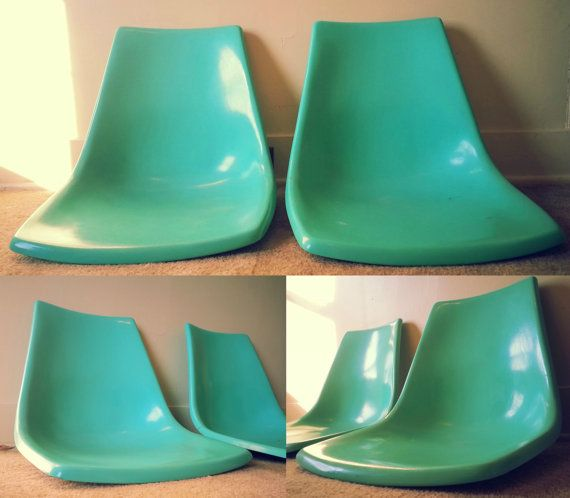 Turquoise Shell Mid Century Fiberglass by DazzlingVintageFinds, $90.00