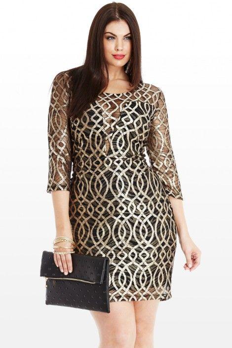 @PinFantasy - Jumping Hoops Mesh Dress  - ✯ http://www.pinterest.com/PinFantasy/moda-~-plus-size-fashion-tallas-grandes/