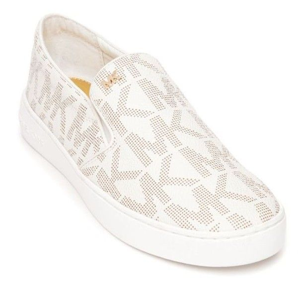 Michael Michael Kors Vanilla Keaton Slip-On Sneaker - Women's ($99) ❤ liked on Polyvore featuring shoes, sneakers, vanilla, slip on sneakers, slip-on sneakers, pull on sneakers, slip-on shoes and pull on shoes