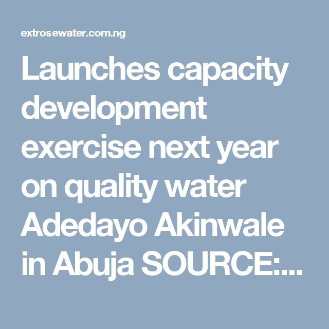 Launches capacity development exercise next year on quality water Adedayo Akinwale in Abuja SOURCE: THISDAY NEWSPAPER NIGERIA. The United Nations Education, Scientific and Cultural Organisation (UNESCO) has said that 30 per cent of Nigerians still lack access to quality water. It said though this was not peculiar to Nigeria alone but all countries in the […]