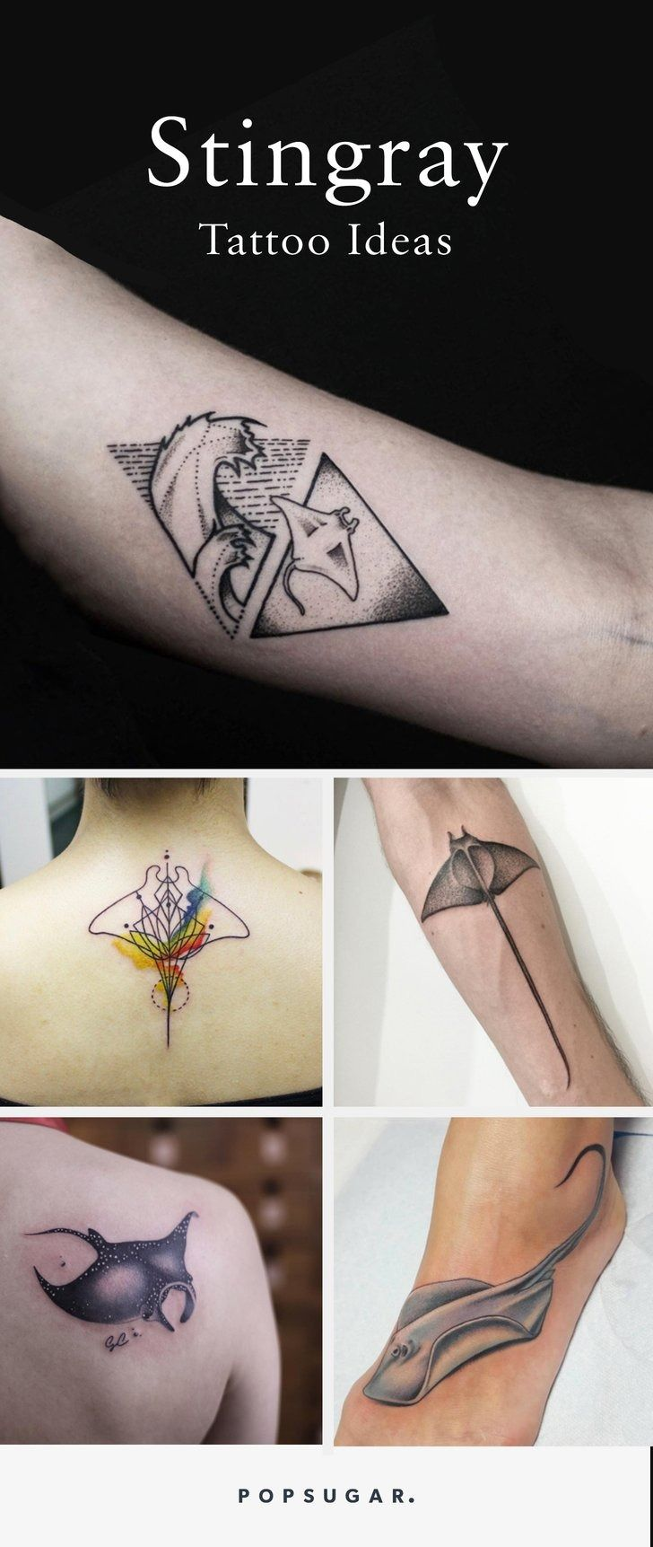 12 Gorgeous Stingray Tattoos You'll Want to Get Inked, ASAP
