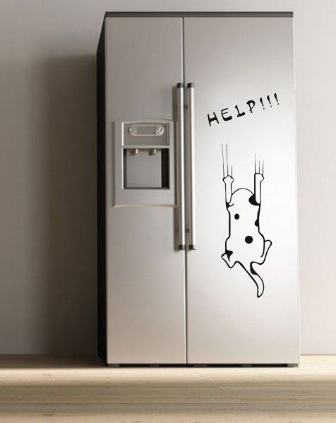 25 best fridge stickers ideas on pinterest painted With best brand of paint for kitchen cabinets with dog bumper stickers
