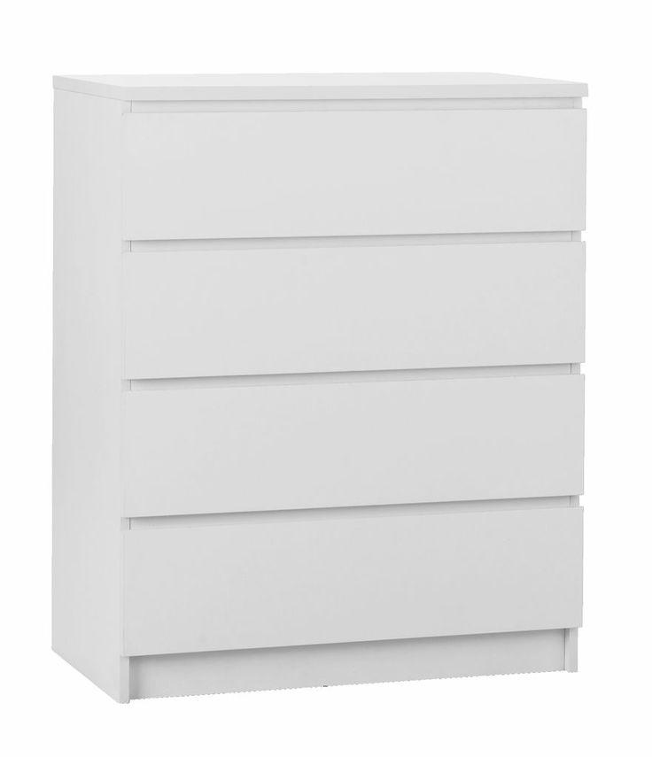 Kommode TEX 4 skuffer hvid | JYSK