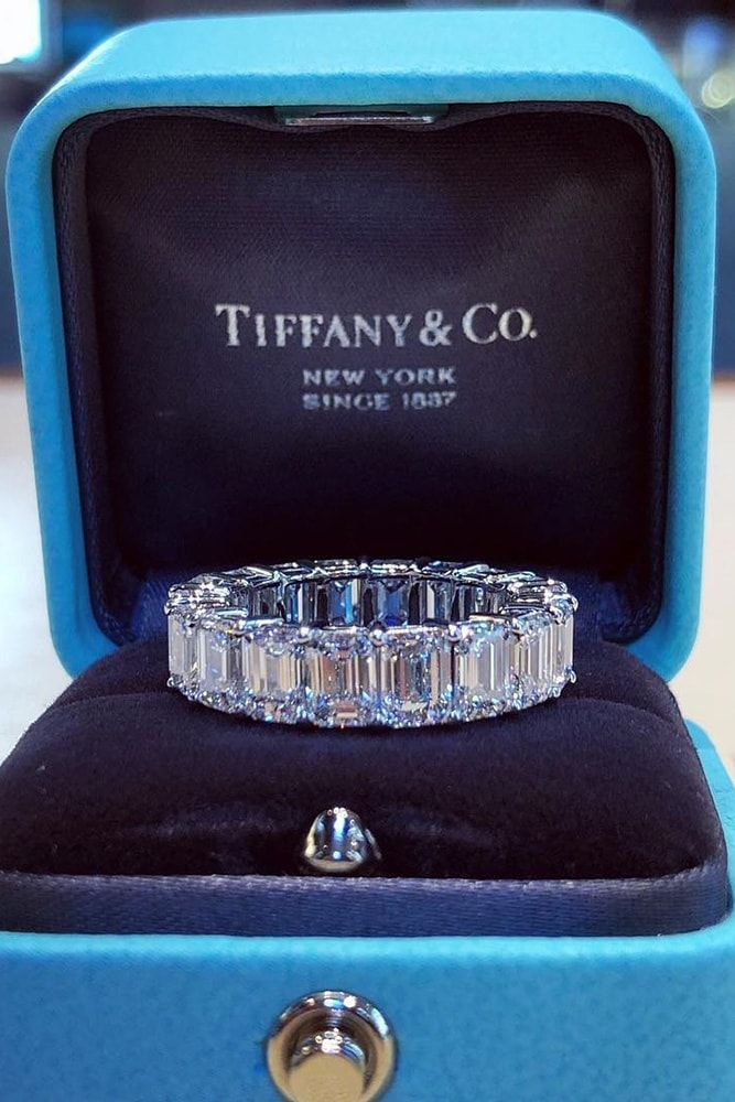 tiffany engagement rings eternal wedding band emerald shaped engagement rings en…