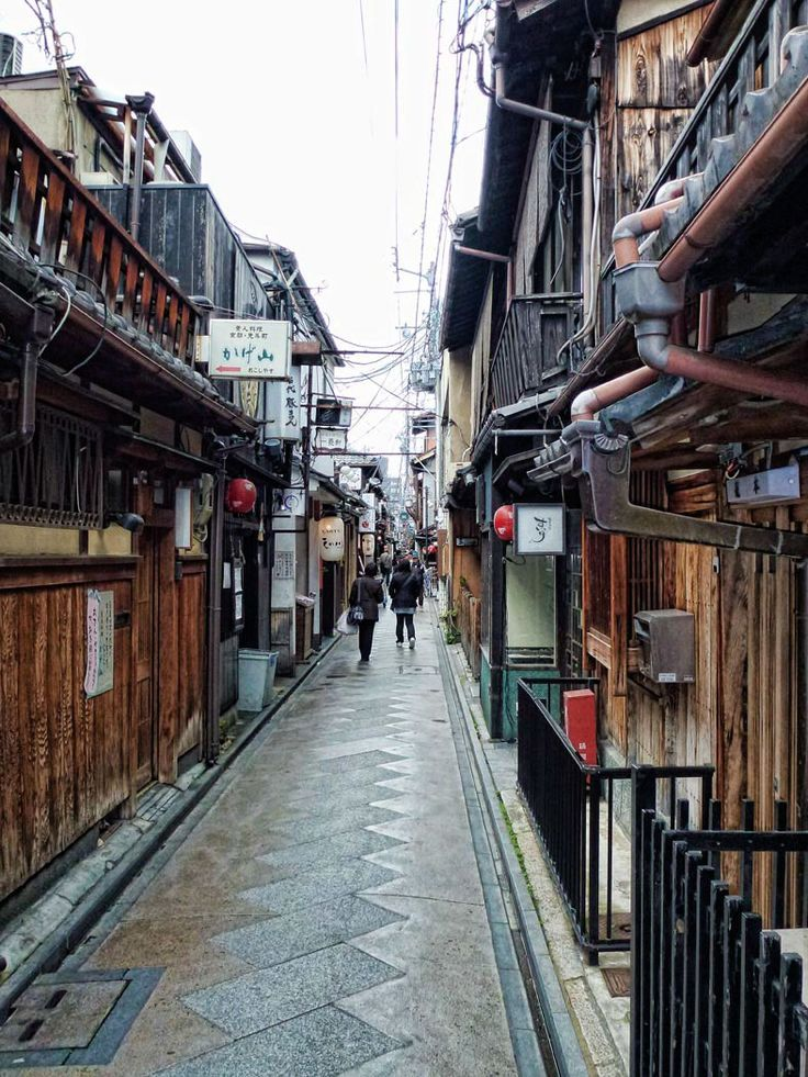 Learn about the 5 Geisha districts of Kyoto, Japan.  This one is Pontocho hanamachi by day