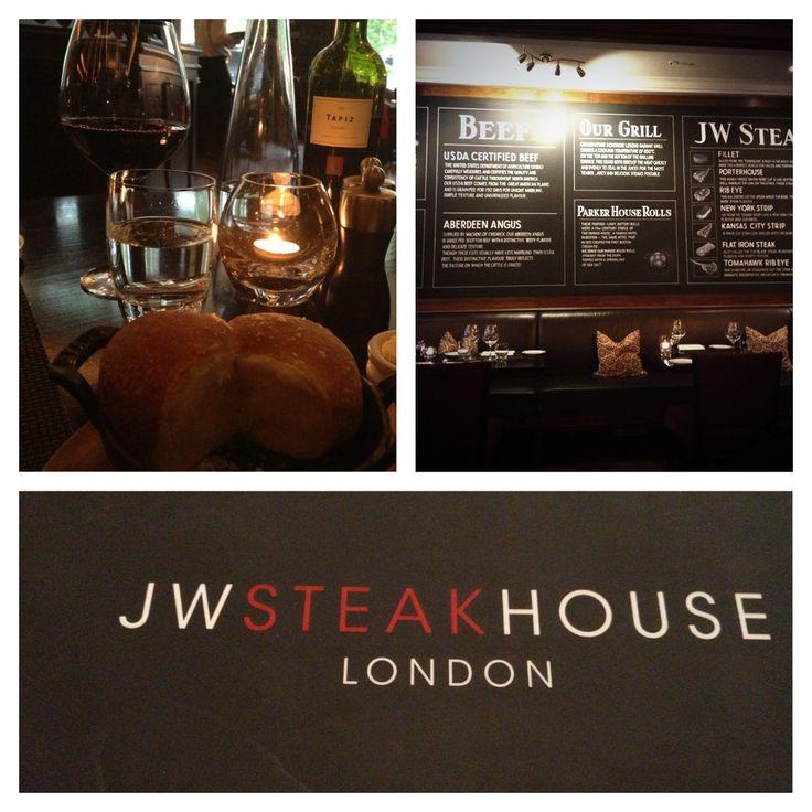 A fantastic evening of Steak & Wine at @ JW SteakHouse london @Liz Mester Marriott Grosvenor House.