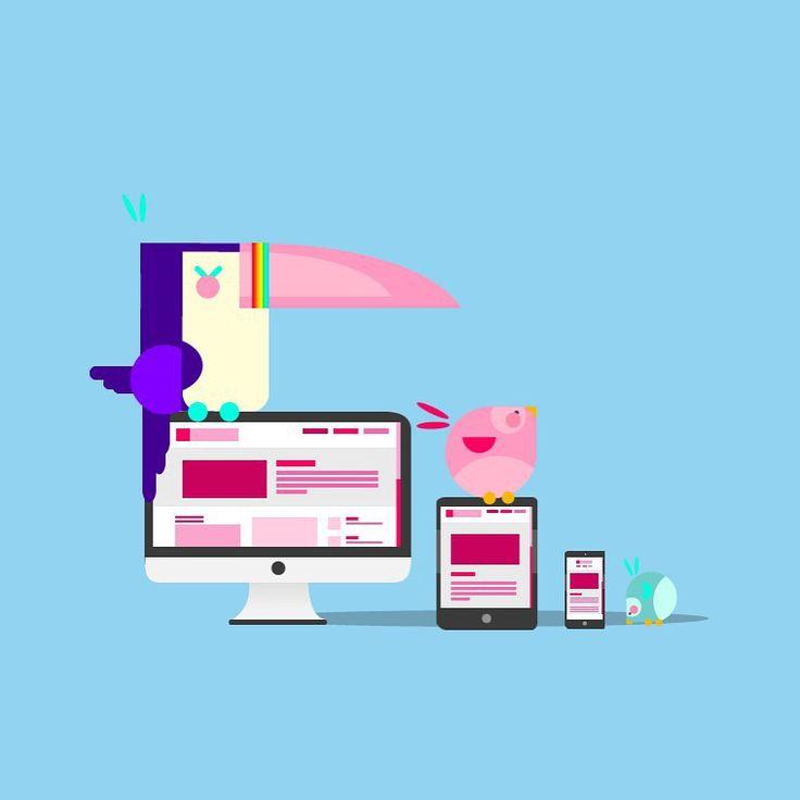Tropic page mobile, design web port for Brandca studio, all rights reserved. #character #characterdesign #ilustration #blue #flat #flatdesign #flatillutration #blue #modern #love #pic #picoftheday #tucan #bird #web #webdesign #vector #bestvector #adobe #illustrator