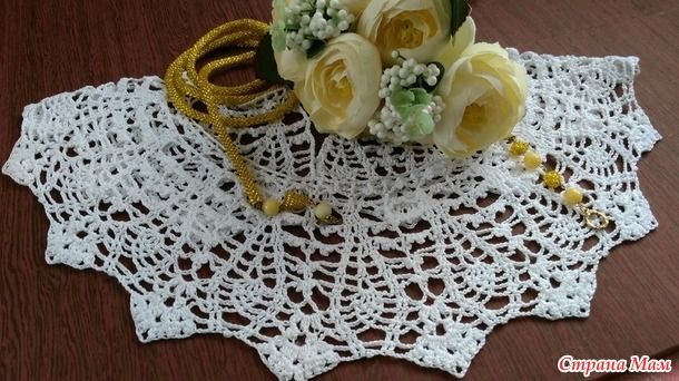 . Белый воротничок для платья
