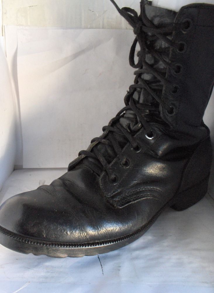 RO SEARCH MENS BLACK LEATHER ARMY BOOTS SURPLUS SIZE 11R RUSSELLB SHOES #ROSEARCH #Military
