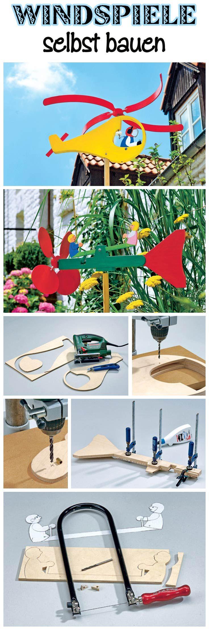 Windspiele bringen Farbe in den Garten. Der Hubschrauber hebt bei genügend Wind auch schnell ab und auf der Wippe schaukeln kleiner Männchen. Wir zeigen, wie du die farbenfrohen Dekorationen für den Garten selbst machen kannst.