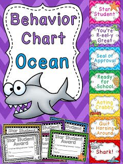 Under the Sea behavior chart for ocean theme classroom a bunch of other fun behavior clip charts!