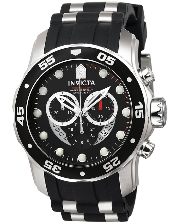 Invicta Pro Diver Flex Chronograph Black - 6977
