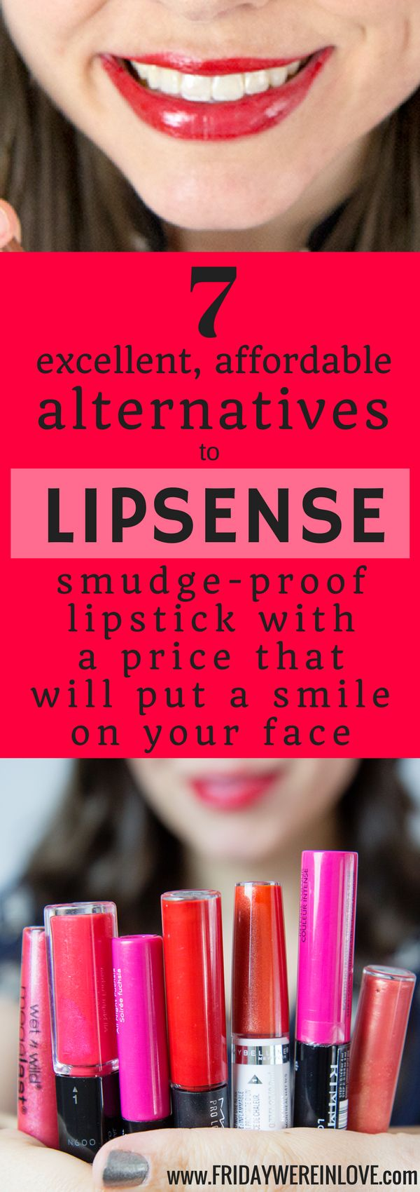 7 excellent, affordable Lipsense alternatives that are smudge-proof, kiss-proof lipsticks that won't break the bank! Videos/detailed shots of all products.