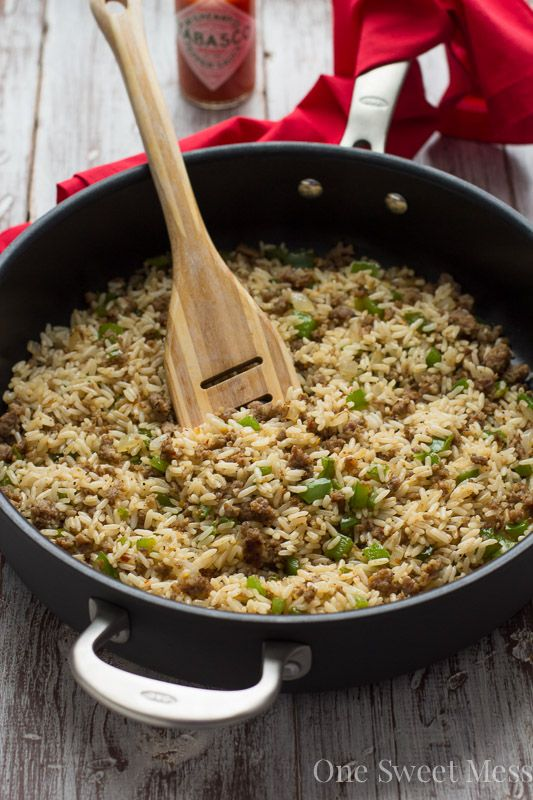 Dirty Rice: This spicy rice comes together in under 30 minutes. It's a great way to utilize leftover rice and makes for a delicious side dish.