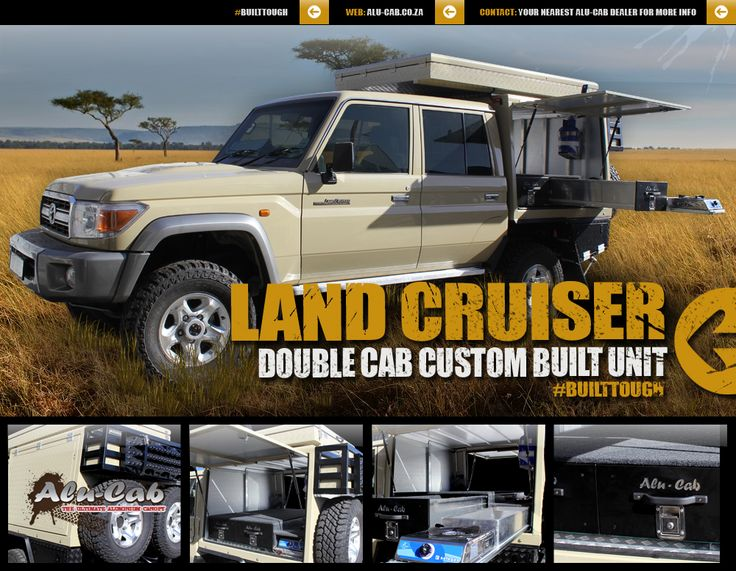 Toyota Land Cruiser Double Cab Custom Built Unit.