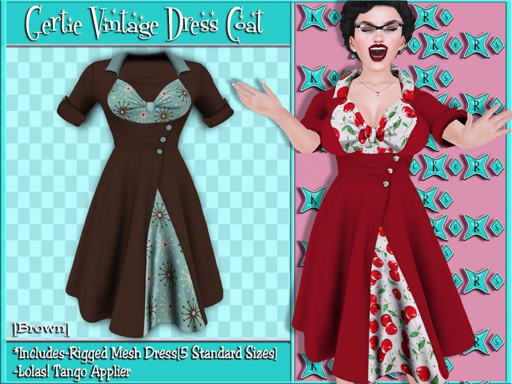 Now @ ..::KnocKeRs::..Gertie Vintage Dress Coat! Includes Lolas! Tango Appliers!{Available in 6 Colors} Retro Vintage Fashion @ ..::KnocKeRs::..! http://slurl.com/secondlife/Legends/187/158/2003