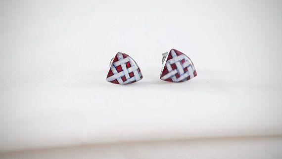 #handmade #heraldic #post #earrings #thesilverlance #etsy