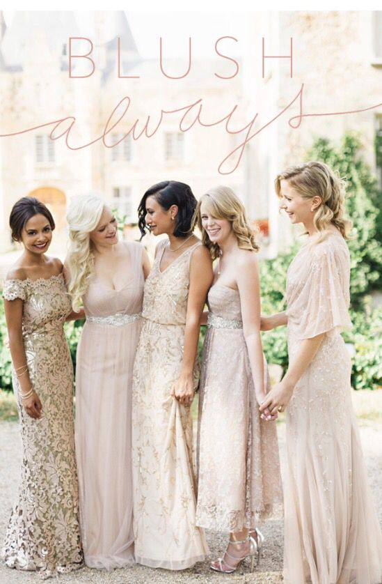 Mix and match bridesmaids - BHLDN
