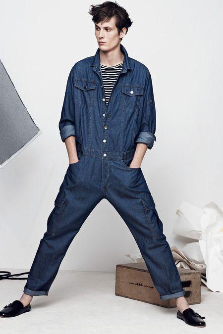 Denim | Indigo blue | Balmain Spring 2014 Menswear Collection Slideshow on Style.com