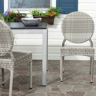 Shop for Safavieh Rural Woven Dining Valdez Grey Indoor Outdoor Stackable Side Chairs (Set of 2). Get free shipping at Overstock.com - Your Online Furniture Outlet Store! Get 5% in rewards with Club O!
