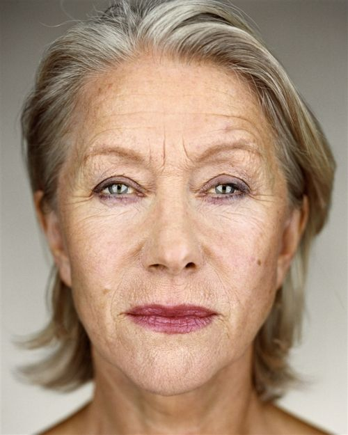 Helen Mirren - unretouched. have met her and this is how she looks...better than like the joker...