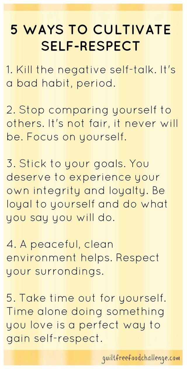 Self Improvement Tips - how to cultivate Self respect