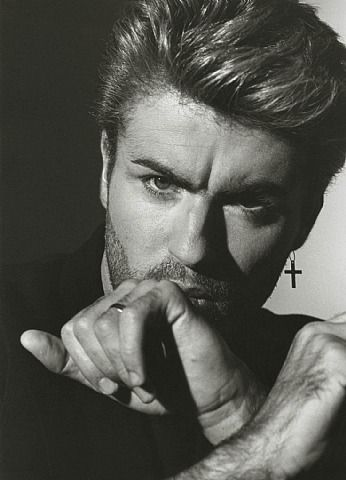 """George Michael 1, Los Angeles, 1988. Photo by Herb Ritts. Love, love, love """"Careless Whisper."""""""