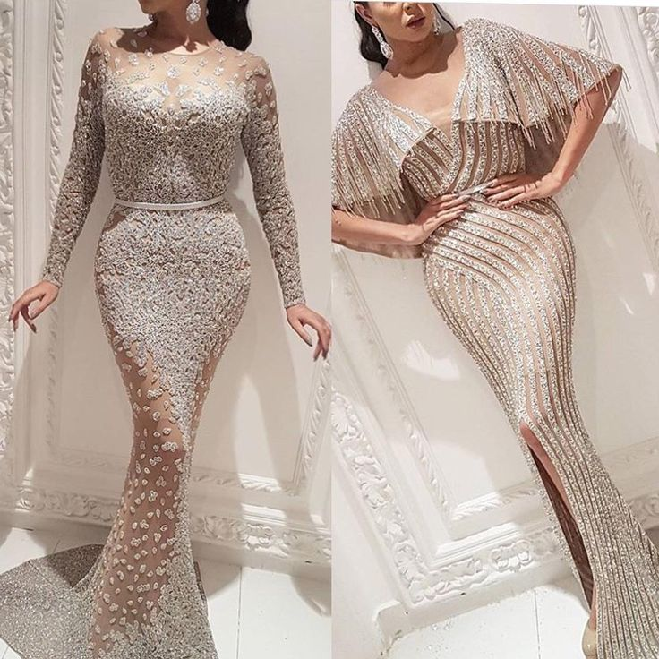 These heavily beaded evening gowns can be recreated for you in any size color or with any changes.  We specialize in beaded #eveningdresses for all types of formal special occasions.  Our design firm has been making custom evening gowns for pageants and black tie affairs for decades.  We can modify one of our designs and add beading or we can work from any design you love.  Creating inexpensive #replicas of haute couture designs can be done too at www.dariuscordell.com