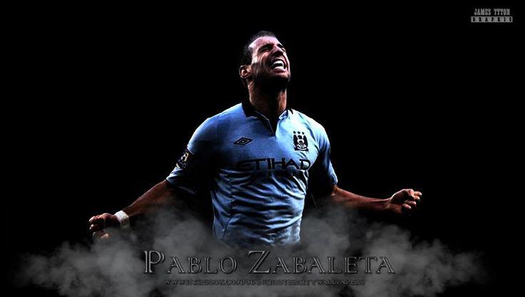 Pablo Zabaleta Manchester City Wallpaper HD - http://www.wallpapersoccer.com/pablo-zabaleta-manchester-city-wallpaper-hd.html