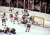 "1980 US Hockey Olympic  Victory; ""The Miracle On Ice"".  The most thrilling athletic event I've ever viewed."