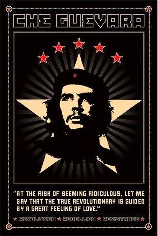 """Ernesto """"Che"""" Guevara  (1928-1967), comúnmente conocido como el Che o simplemente el Che, fue un argentino marxista revolucionario, médico, autor, líder guerrillero, diplomático y teórico militar. Protagonista de la revolución cubana, su rostro estilizado se ha convertido en un símbolo ubicuo contracultural de rebelión y insignia global dentro de la cultura popular."""
