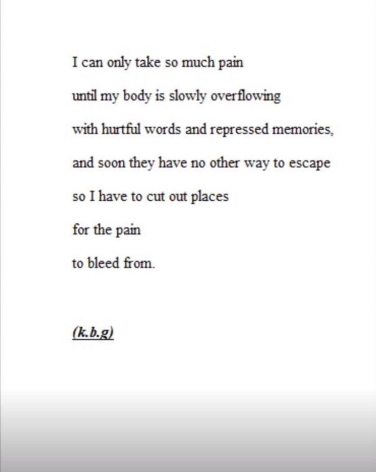 Depression Quote   Cutting