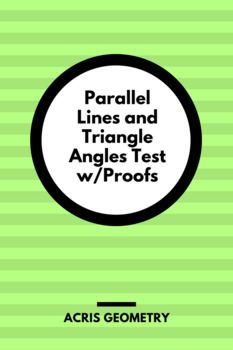 Parallel lines and angles formed by transversal lines Triangle Angles - interior and exterior 2 versions with similar problems (some overlap)
