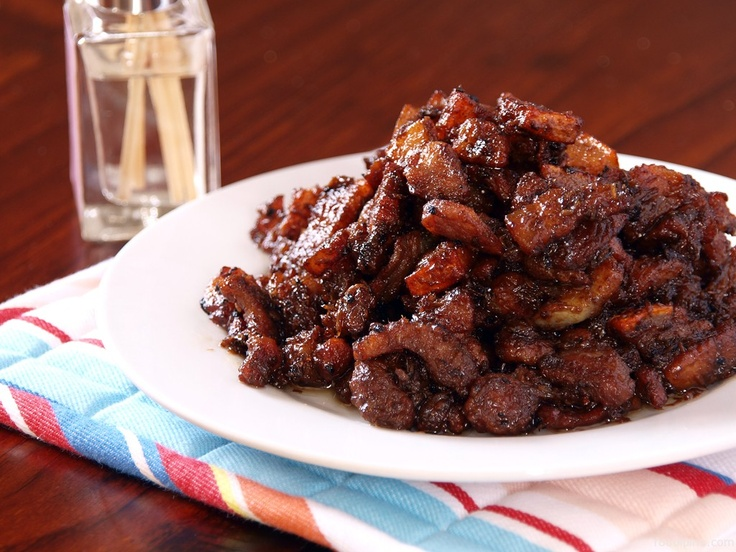 Crispy Pork Binagoongan - Serve this authentic spicy Filipino dish served with rice. Sarap!