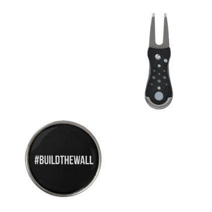#BuildTheWall Build the Wall MAGA Trump Hashtag US Divot Tool  $22.30  by Kekistan  - custom gift idea