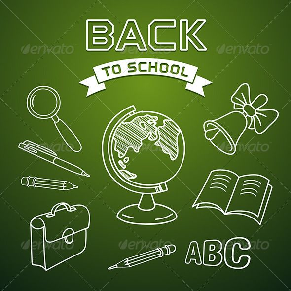 Welcome Back to School  #GraphicRiver         Welcome back to school, vector illustration. Editable EPS8 (you can use any vector program), AI in CS3 version and hi-res JPG files are included.     Created: 30July13 GraphicsFilesIncluded: AIIllustrator Layered: Yes MinimumAdobeCSVersion: CS3 Tags: abc #back #background #bag #bell #blackboard #board #book #bow #chalk #chalkboard #design #draw #drawing #education #elements #globe #hand #illustration #magnifier #notebook #pen #pencil #sale…