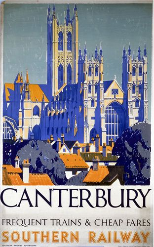 Canterbury - Frequent Trains and Cheap Fares Art Print by National Railway Museum Easyart.com