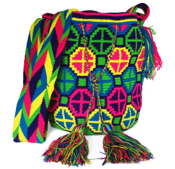 Multi-color Mochila Tribal wayuu patterns Patrones wayuu tradicionales 100% colombian, made in la guajira by the wayuu tribe. #mochilas  #mochilas wayuu #wayuu bags
