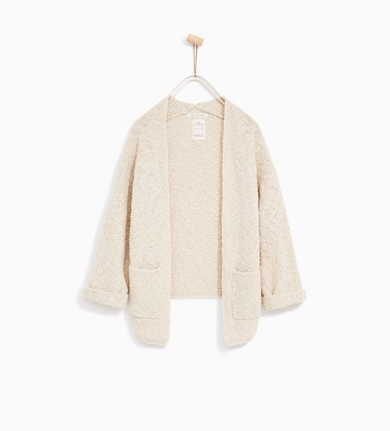 ZARA - KIDS - LONG STRUCTURED WEAVE CARDIGAN