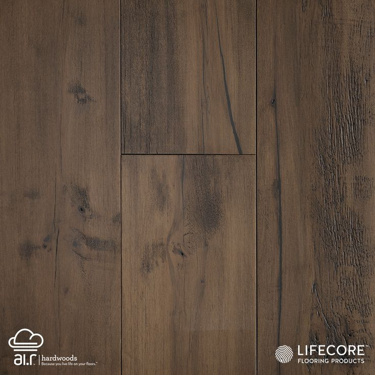 "In Italian, the word Allegra means ""joyful."" This visually pleasing collection of wide-plank engineered prefinished maples more than lives up to its name. The deep wire brushing and fumed finish is done by hand, allowing each plank to add its own unique statement to the floor's collective beauty. Maple scores the second highest of any non-exotic species on the Janka Hardness scale, earning 1450 (as opposed to American Cherry, which scores 950.).  Allegra Maple: Serenity"