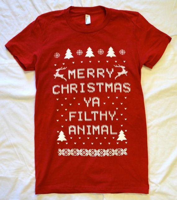 ♥Home Alone Etsy listing at http://www.etsy.com/listing/116412058/ladies-t-shirt-merry-christmas-ya-filthy