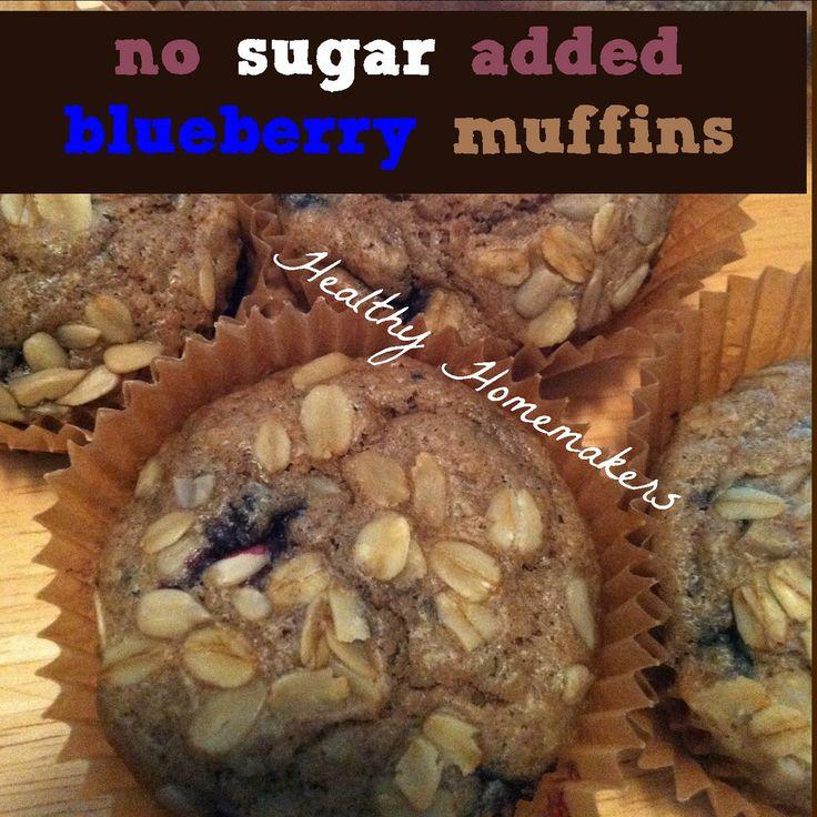 no sugar added bluebeerry muffins: